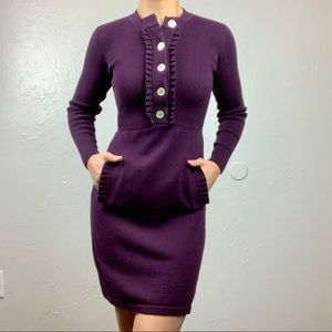 Jessica Howard Purple Sweater Dress sz PXS